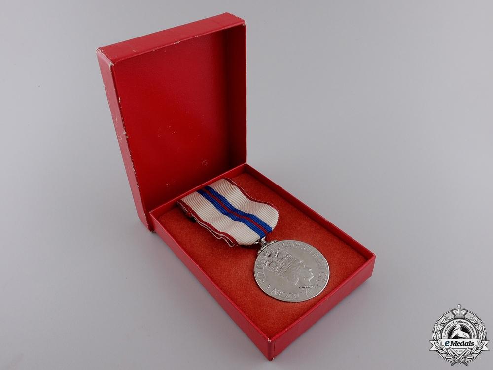A Queen Elizabeth II Silver Jubilee Medal 1952-1977 with Box