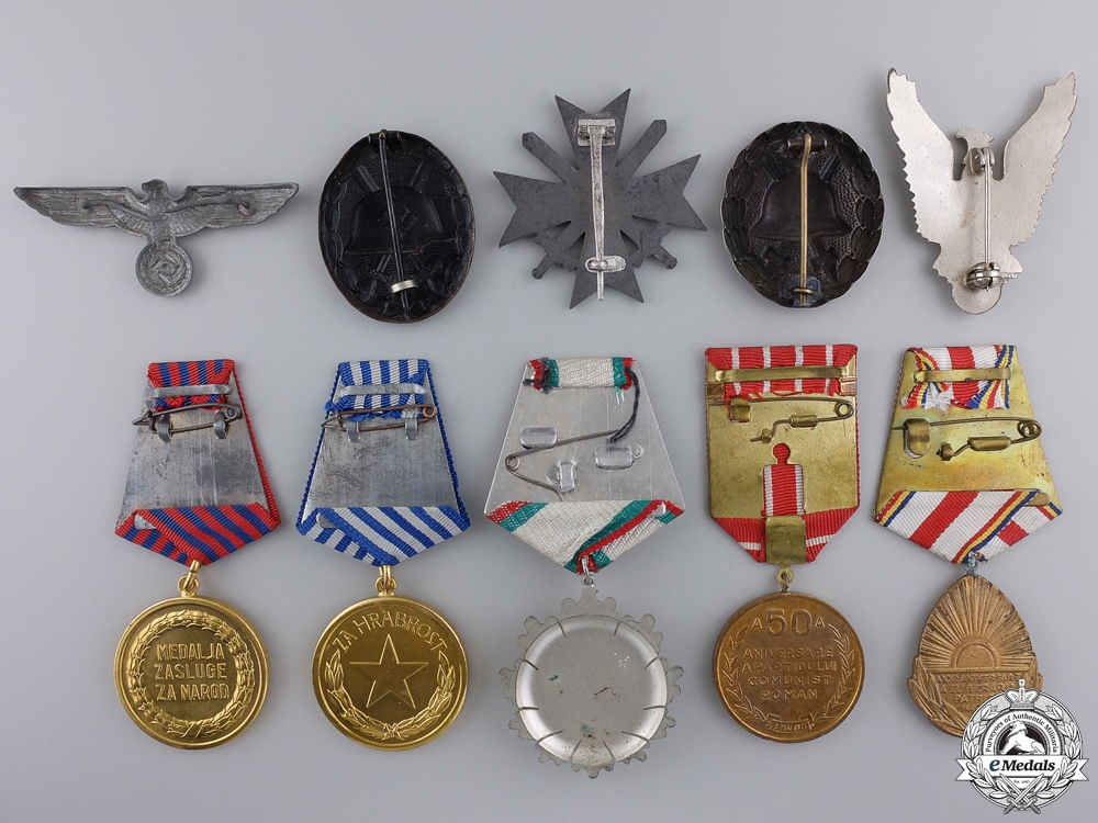 Ten Europeans Medals, Awards, & Badges