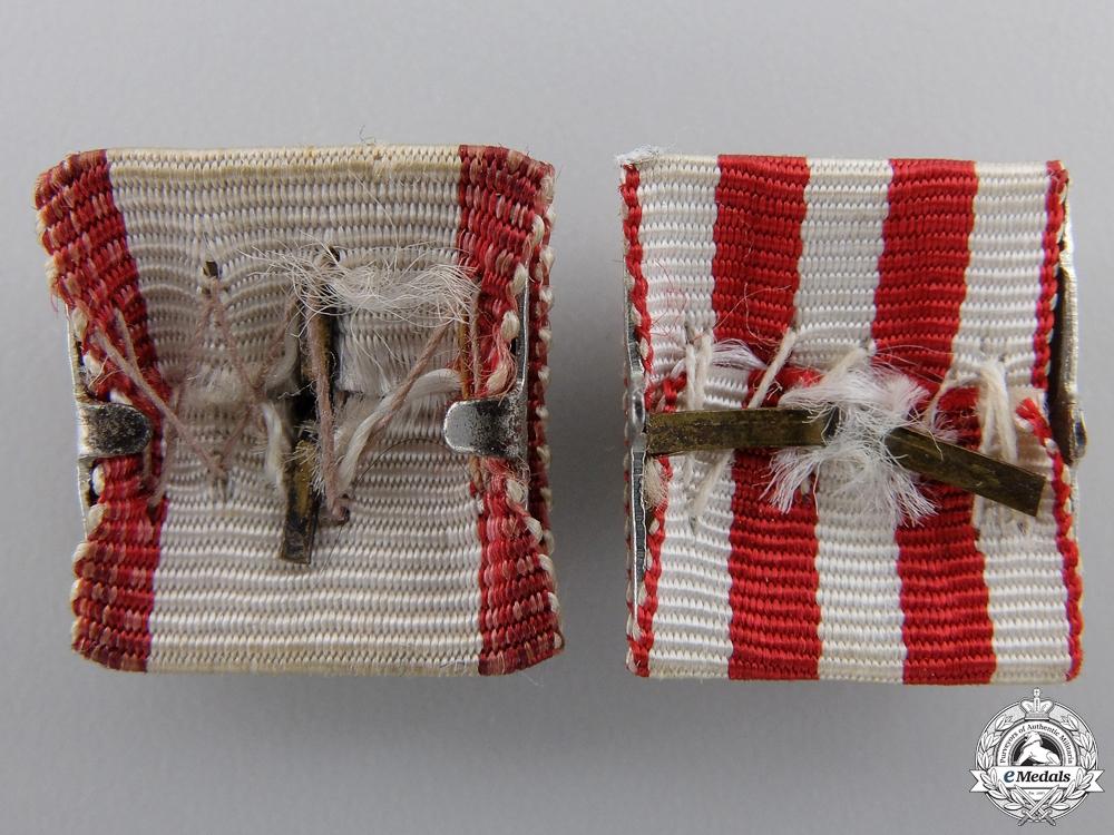 Two Croatian Ribbon Bar Miniatures