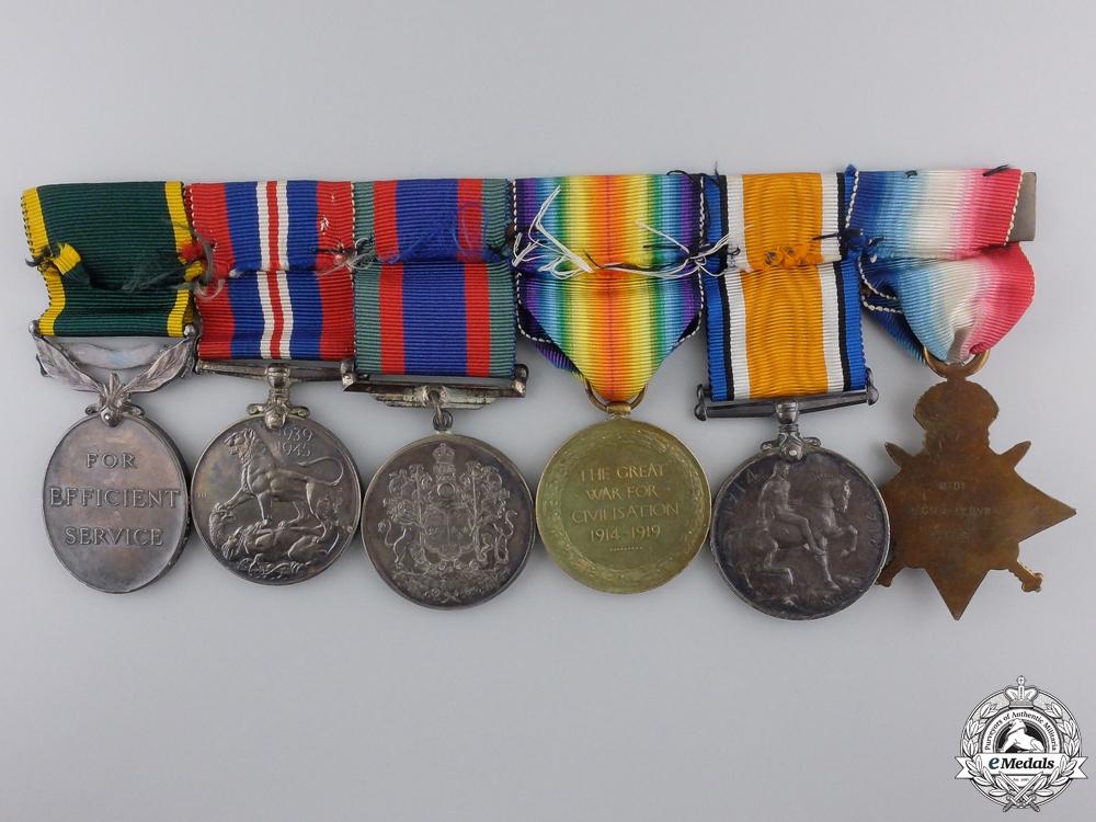 A 1914 Coldstream Guards Medal Group to Regimental Sergt Major
