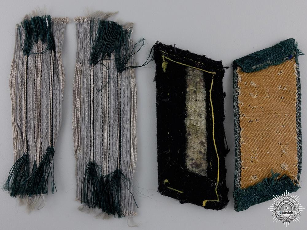 Four Third Reich Constabulary Collar Tabs