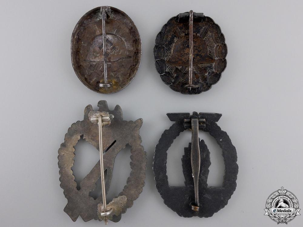 Four Second War German Badges & Awards