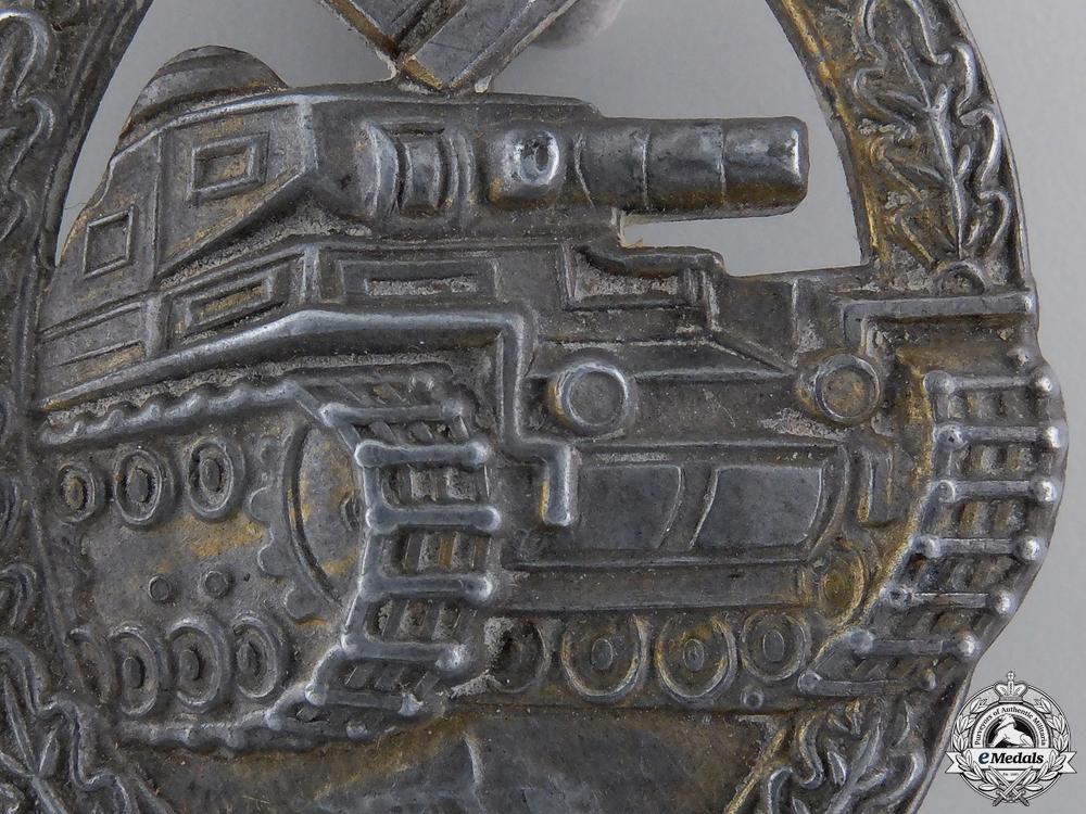 A Tank Assault Badge; Bronze Grade