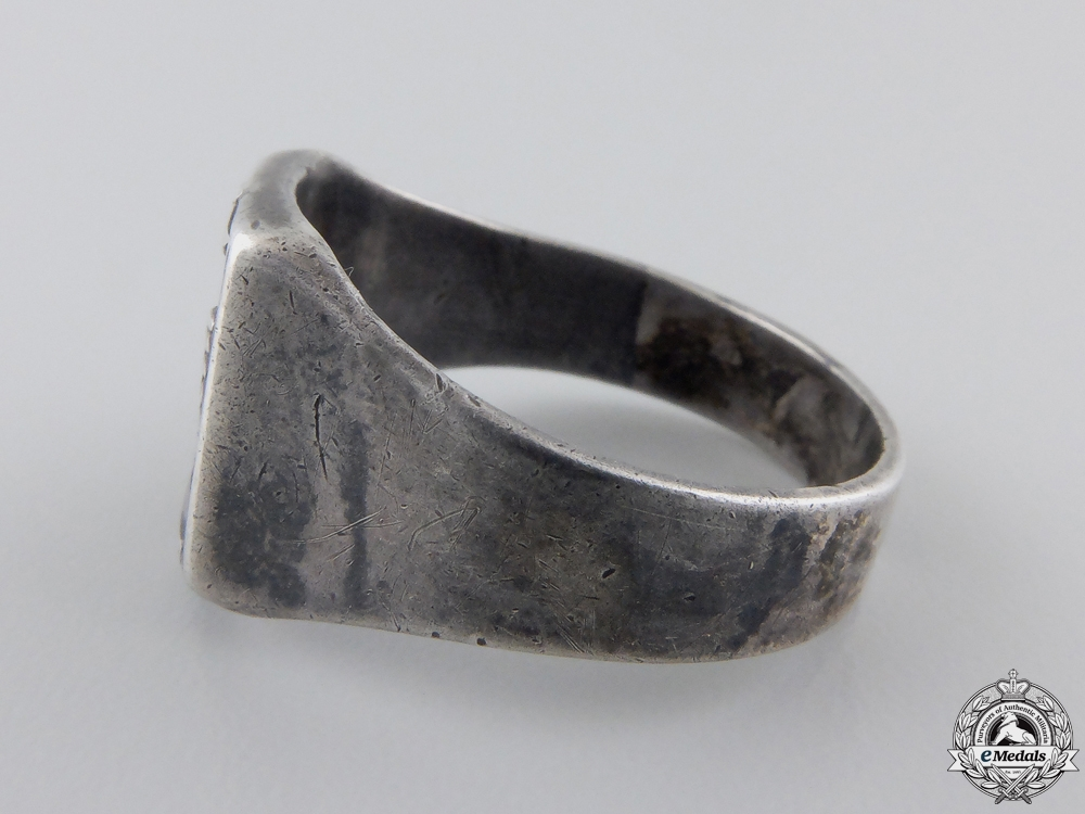 A Rare and Desirable Batterie Todt Silver Ring  $1150