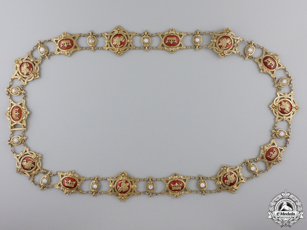 A 1900-1918 Baden Order of Berthold the First Collar