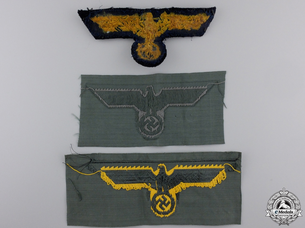 A Lot of Three Third Reich Breast Eagles