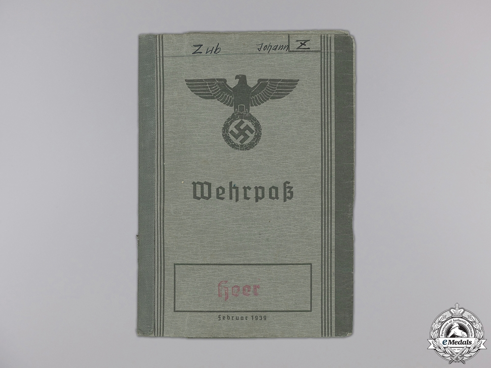 A Wehrpass to the 13th Reserve Territorial Infantry Battalion