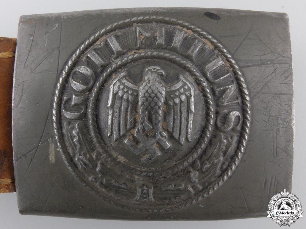 An Army (Heer) EM/NCO's Buckle & Tab