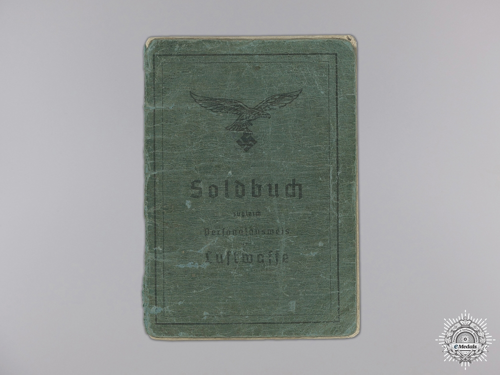 A Luftwaffe Soldbuch to the 11th Fallschirmjäger Regiment