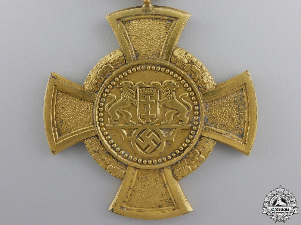 A Rare Danzig Faithful Service Decoration; 1st Class