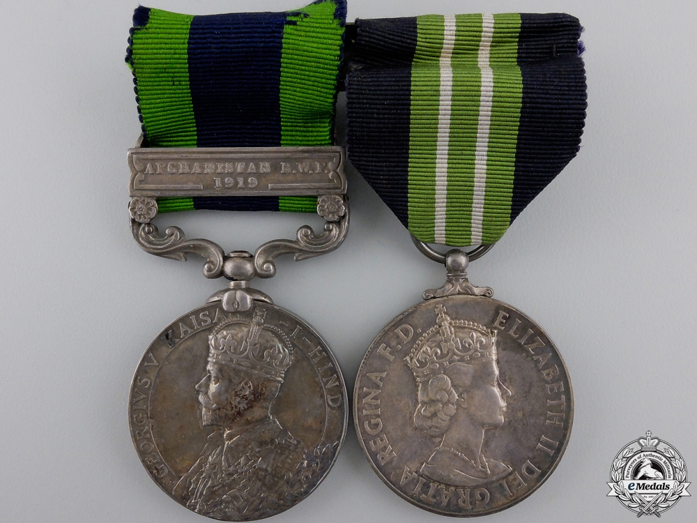 An India & Special Constabulary Medal Pair