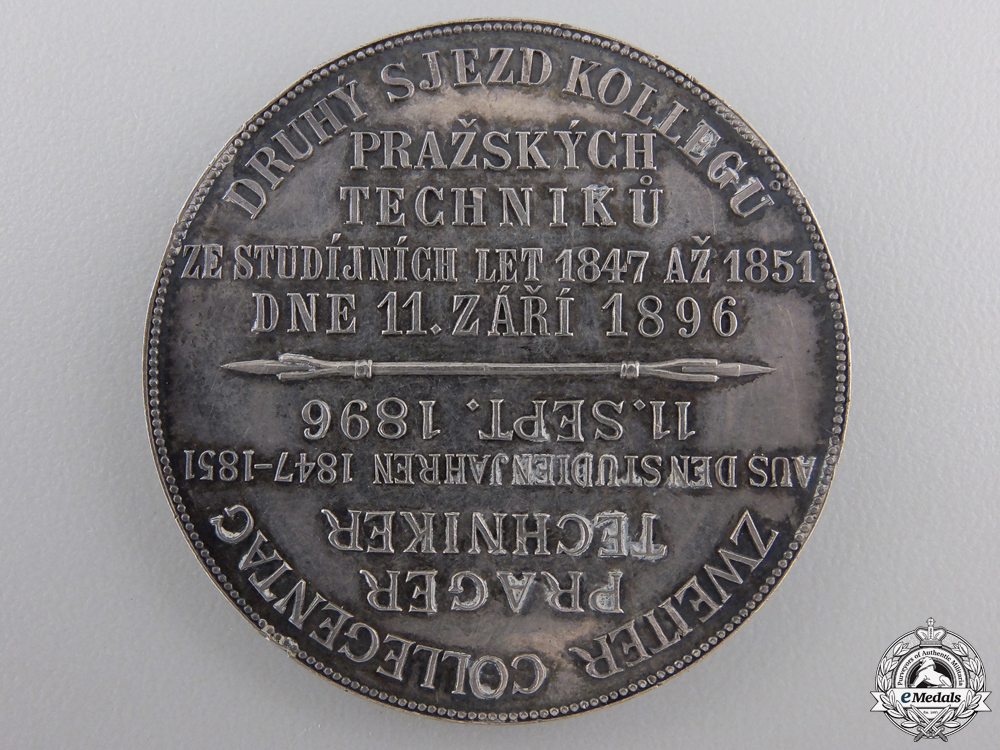 An 1896 Prague Second Technical Congress Medal