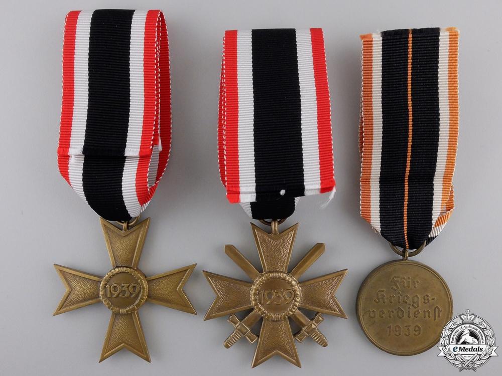 Three Second War German Merit Medals & Awards