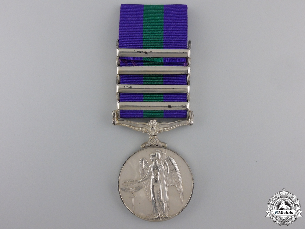 A General Service Medal 1918-1962; 4 Clasps