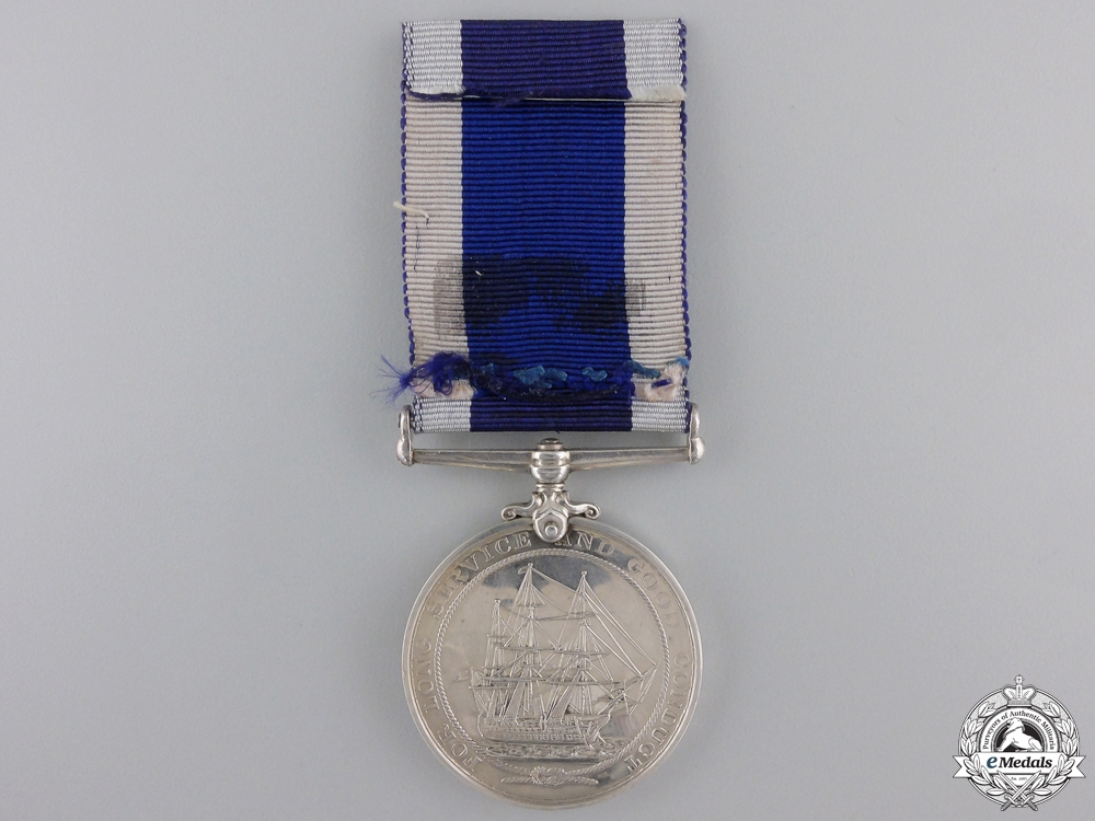 A Long Service & Good Conduct Medal to HMS Wallington