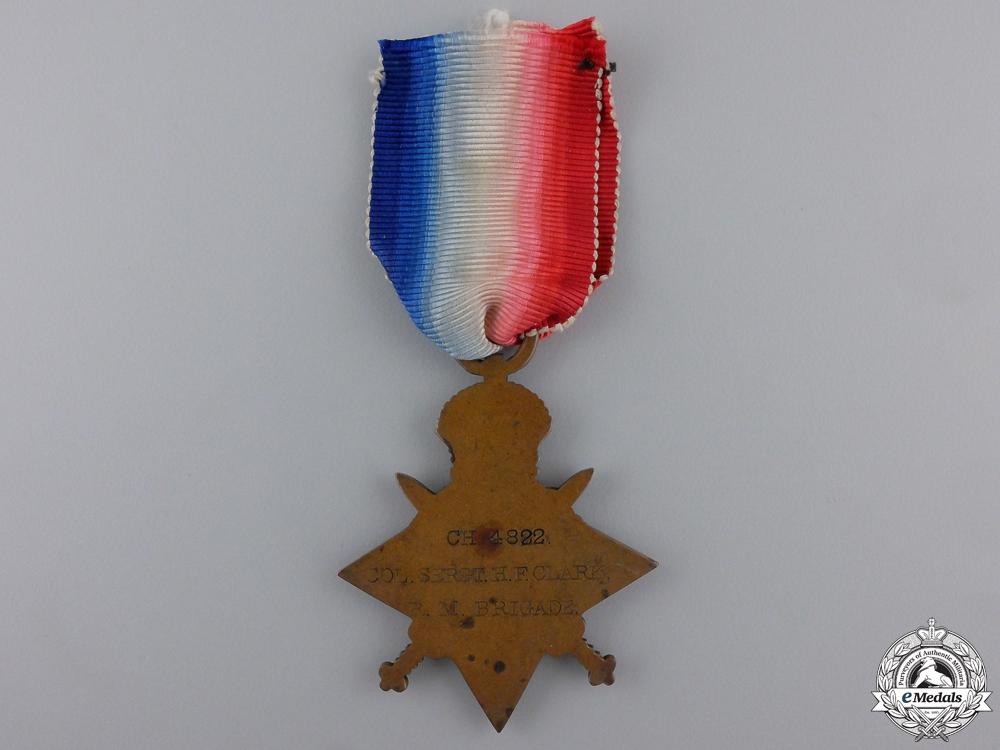 A 1914 Star to Col. Sergt. of Rifle Brigade; Gallipoli KIA
