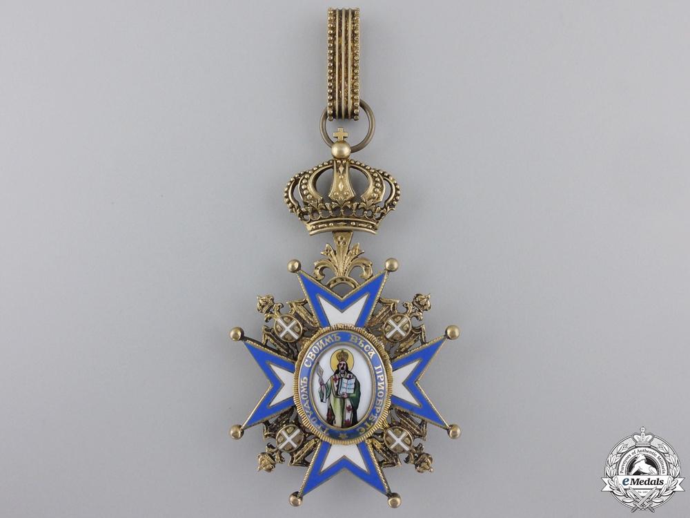 A Serbian Order of St. Sava; 3rd Class Commander Cross