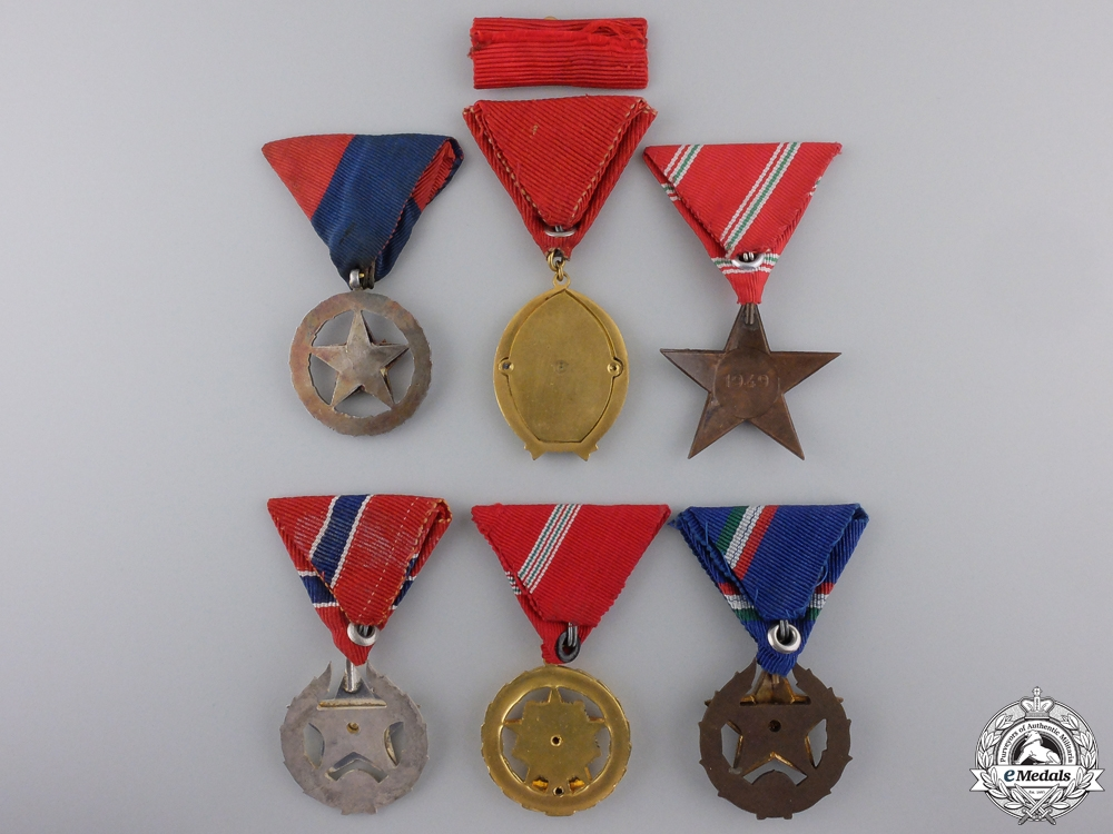 Five Republic of Hungary Medals, Orders & Awards
