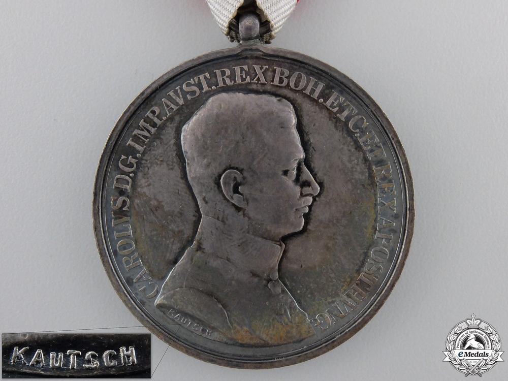 An Austrian Bravery Medal; Silver Grade 1st Class