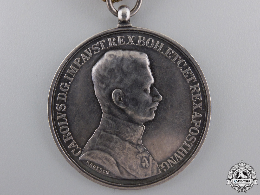 A First War Austrian Bravery Medal; Silver Grade 1st Class