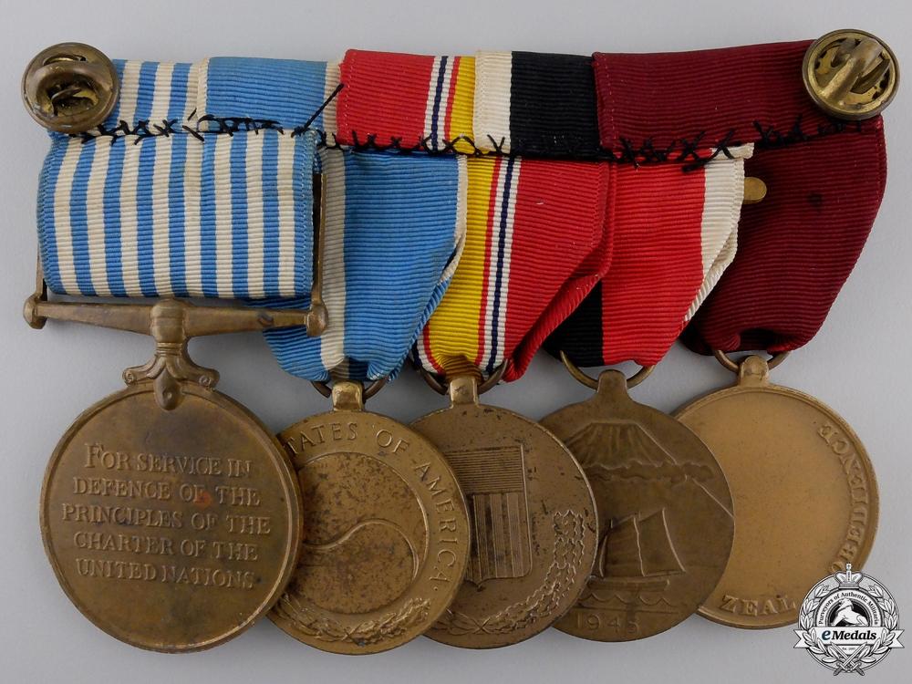 An American Second War & Korea Service Medal Bar