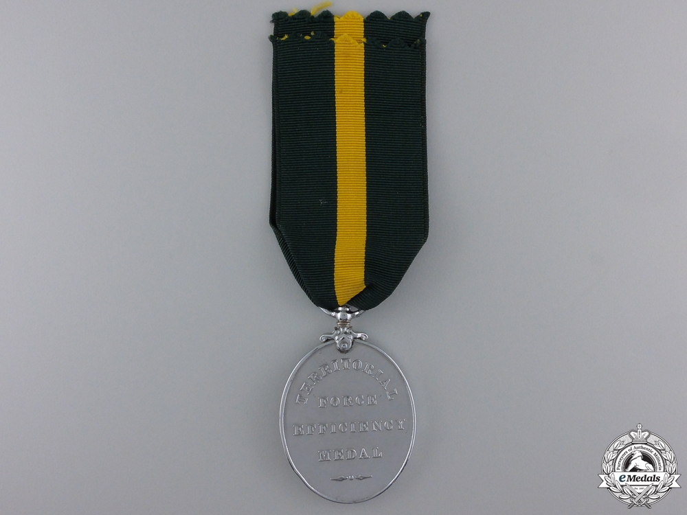 A Territorial Force Efficiency Medal to the Royal Engineers