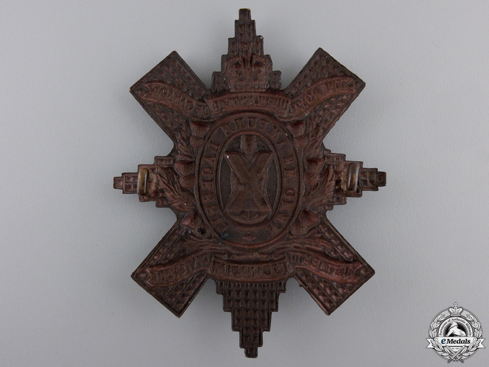 A First War 13th CEF Battalion Glengarry Badge