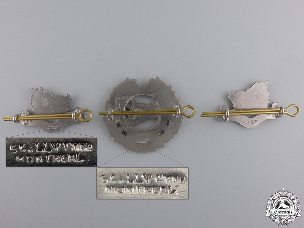 A Set of Argyll Light Infantry Badges