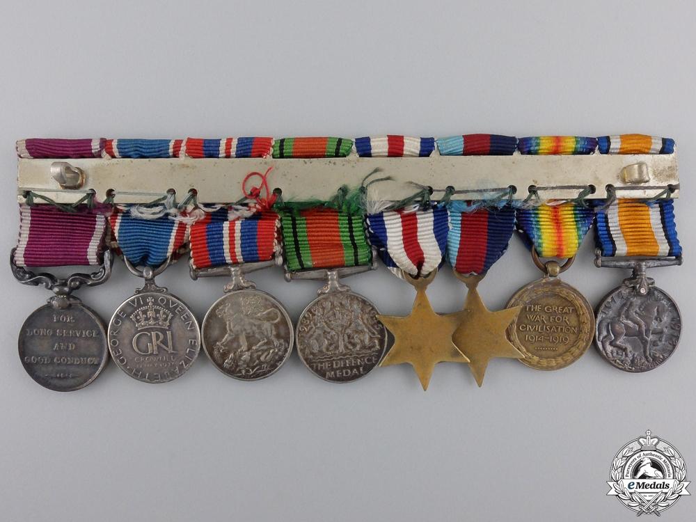 A First & Second War Long Service Miniature Medal Bar