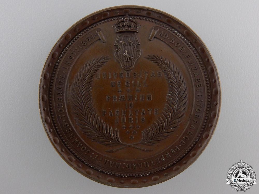 An 1864 McGill University Elizabeth Torrance Medal