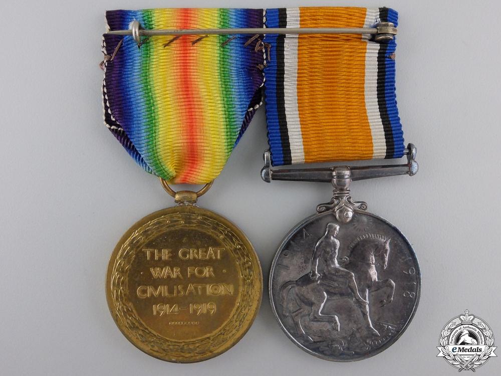 A First War Canadian Pair to Lieutenant D.S. Thompson