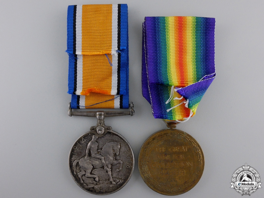 A First War Medal Pair to the Canadian Engineers