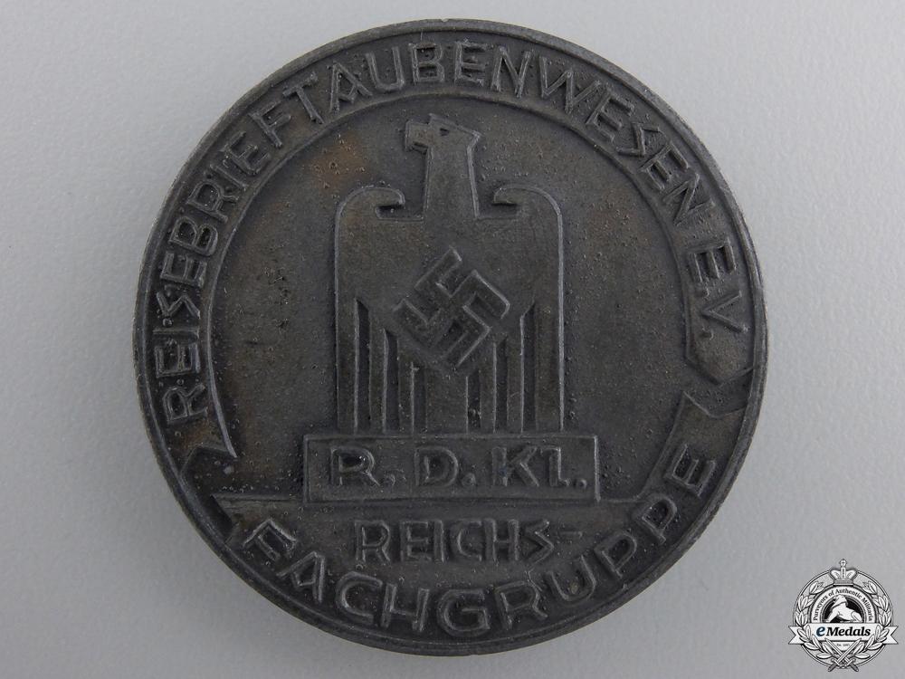 A 1937 Carrier Pigeon Merit Medal