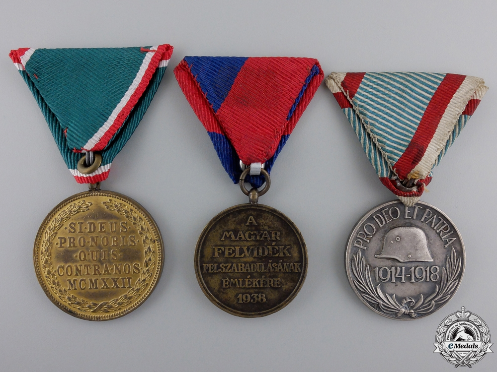 Three Hungarian Medals & Awards
