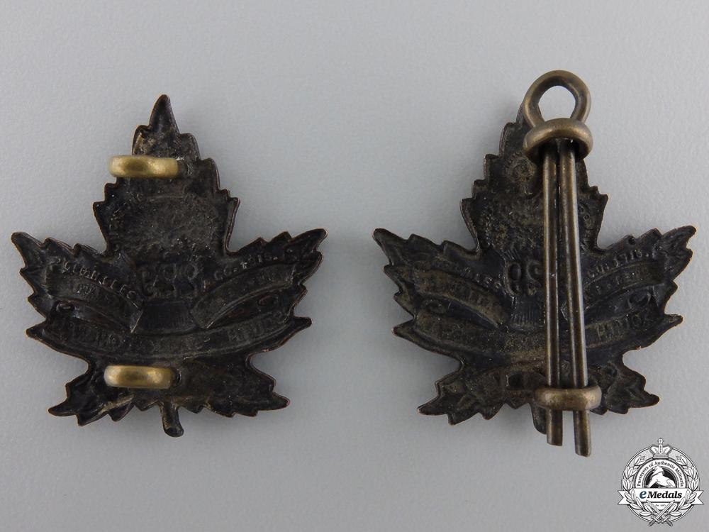 A First War South Saskatchewan Battalion Collar Badge Pair   Consignment 28
