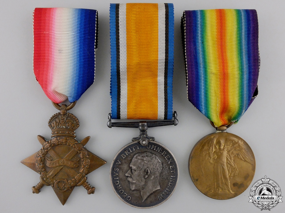 A First War Medal Trio to the 1st Canadian Division Headquarters