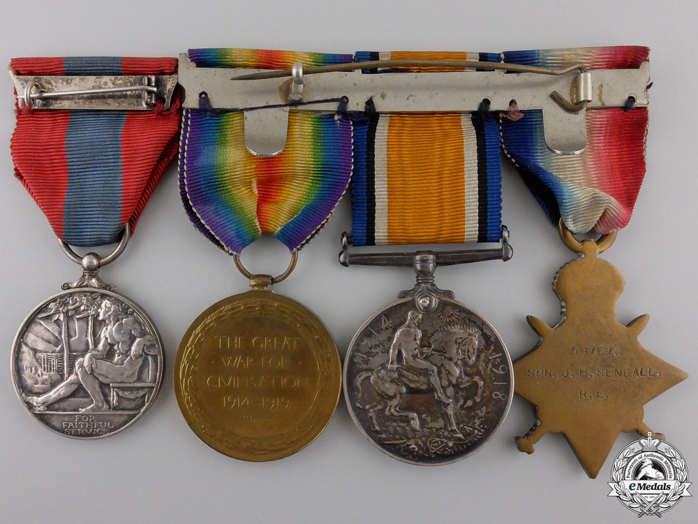 A First War Imperial Service Medal Group to the Royal Engineers  Consignment #36