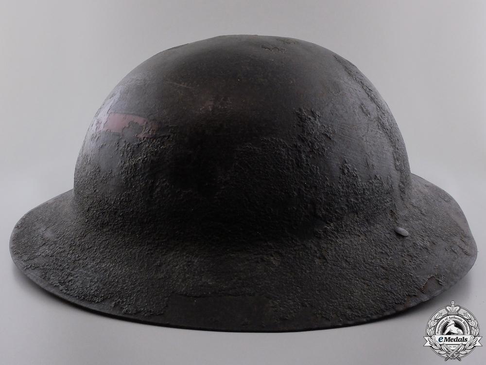 An Early Model Canadian Motor Machine Gun Helmet