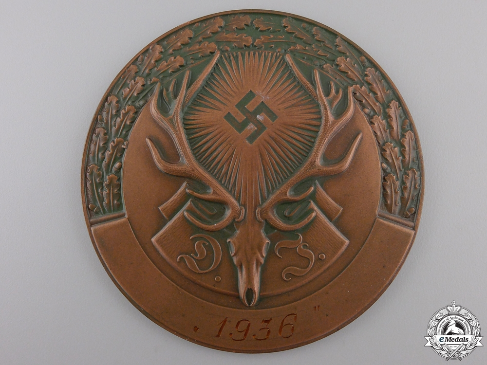 A 1936 German Hunting Association Plaque