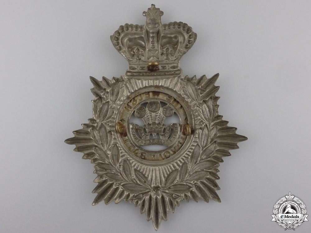 A 1st Volunteer Battalion Welsh Regiment Victorian Helmet Plate