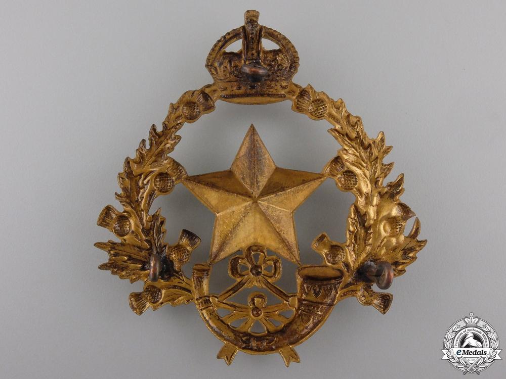 A 2nd Volunteer Battalion Cameronians (Scottish Rifles) Helmet Plate