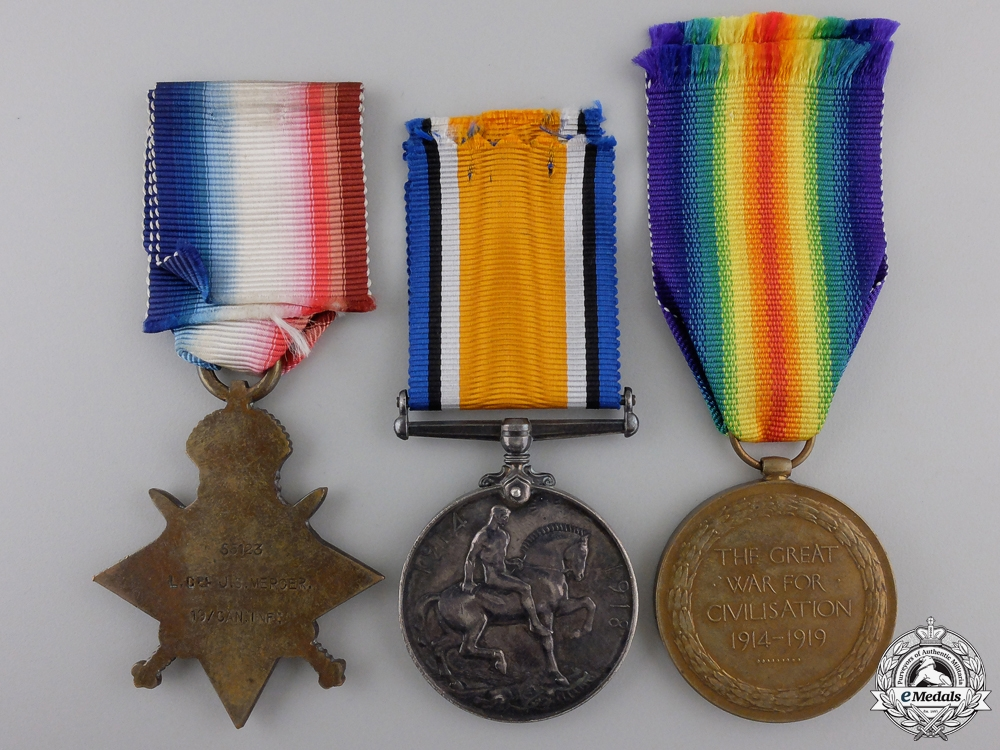 A Medal Trio to the 19th Canadian Infantry; Wounded on the Somme