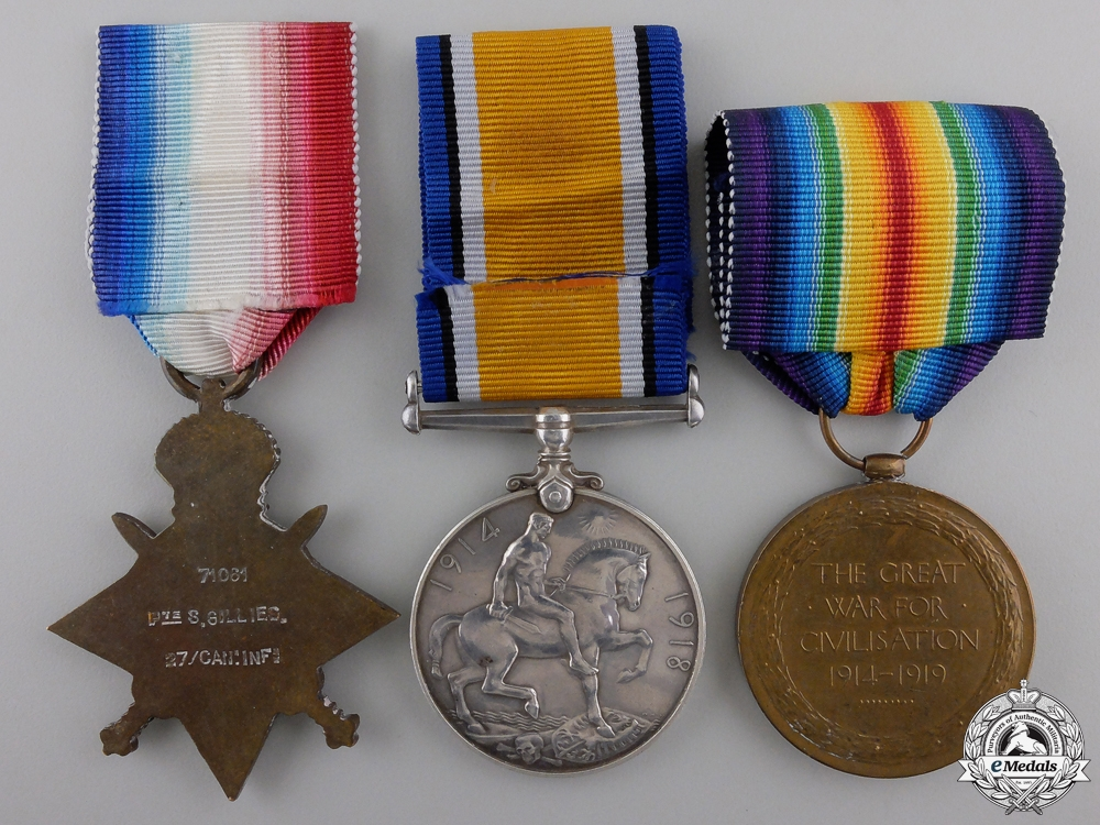 A First World War Trio to the 27th Canadian Infantry