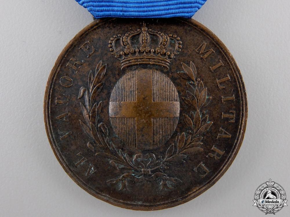 A Second War Italian Medal for Military Valour; Bronze Grade