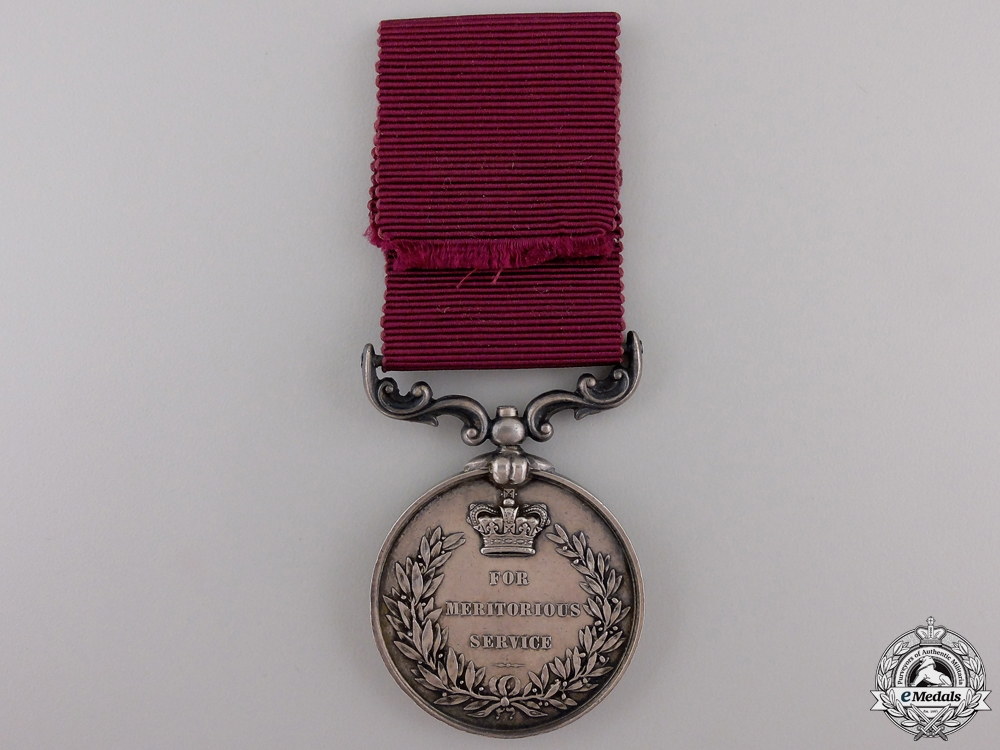 An Army Meritorious Service Medal to the QM Sergt. 49th Foot