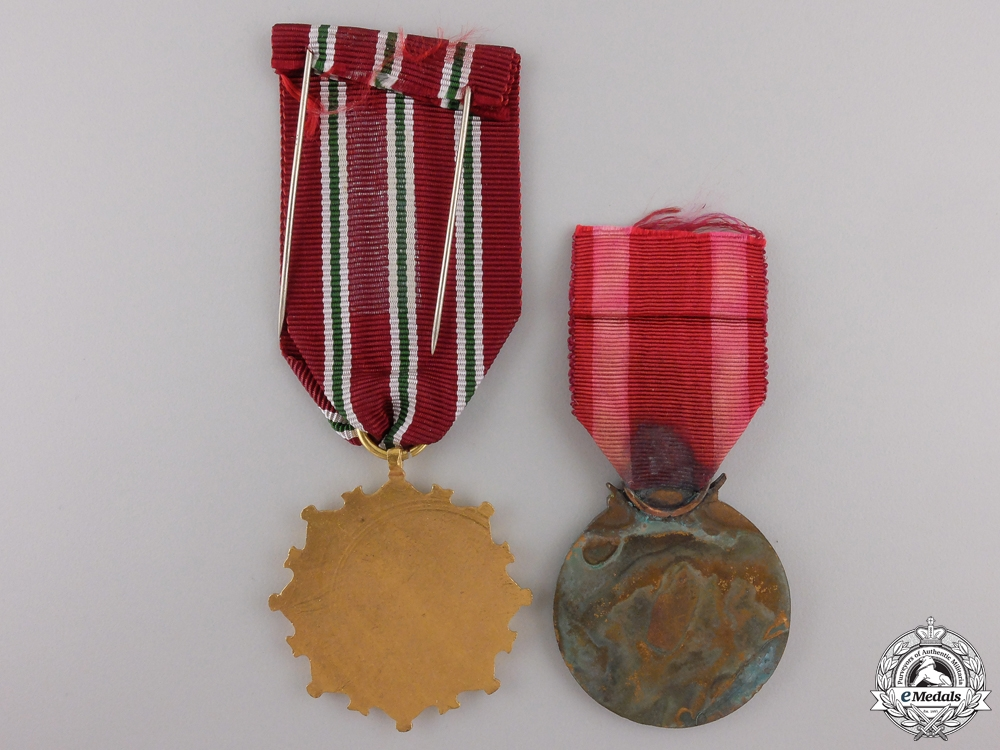 Two Syrian Orders and Medals
