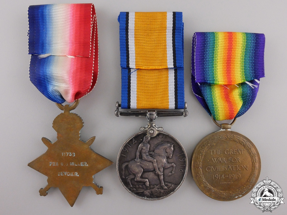 A First World War Group to the Devon Regiment