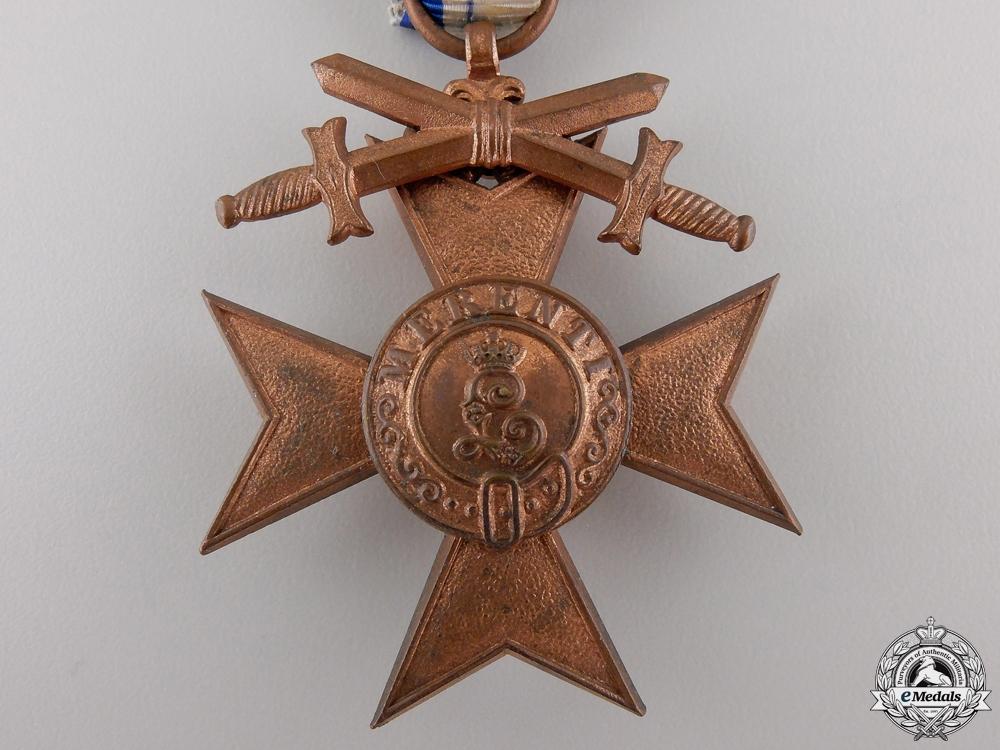 A Bavarian Military Merit Cross with Swords; 3rd Class