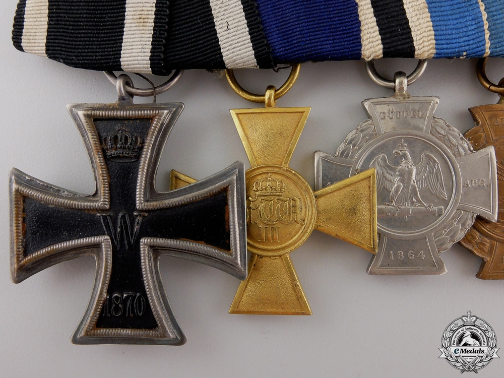 An 1870 Iron Cross Franco-Prussian War Medal Bar