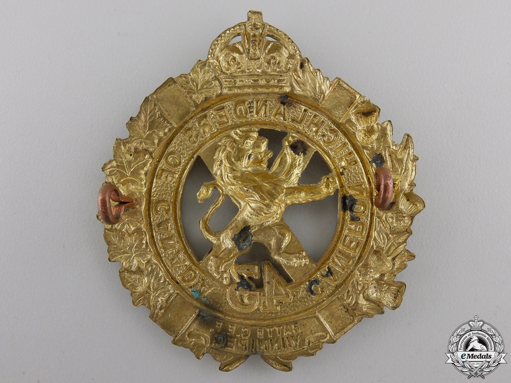 A First War 43rd Infantry Battalion Glengarry Badge